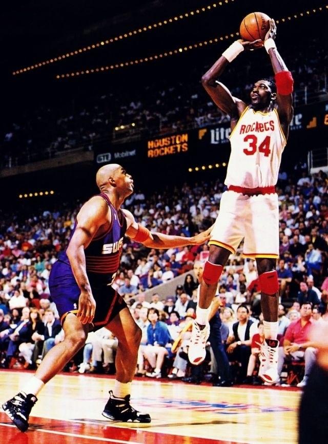 Hakeem Olajuwon Houston Rockets Charles Barkley Phoenix Suns