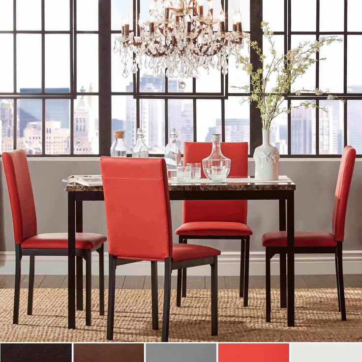 Modern Dining Room Sets : Find the dining room table and chair set that fits both your lifestyle and budget. Free Shipping on orders over $45!