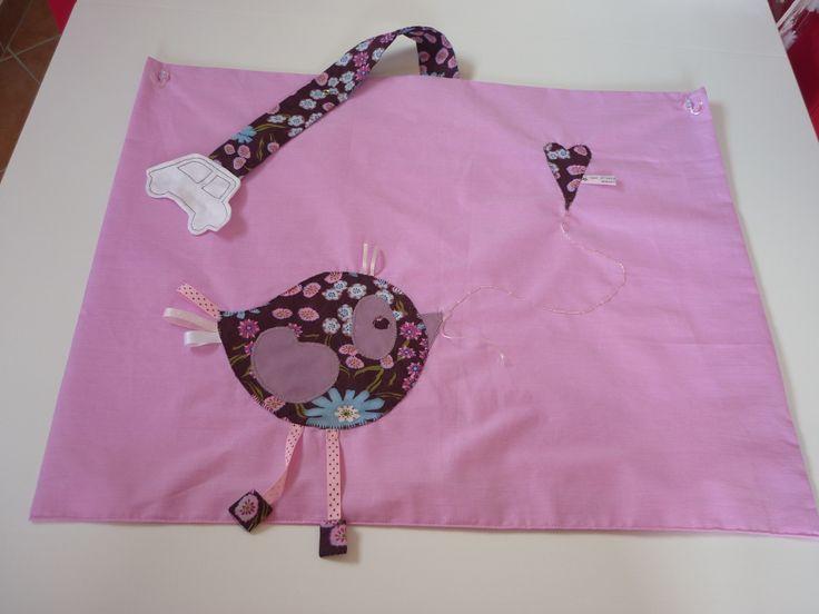 pare-soleil de voiture en tissu oiseau rose : Autres par petits-anges