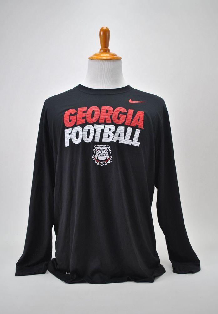size 40 12122 87cfe Details about Men's Georgia Bulldogs UGA Nike Shirt Dri Fit ...