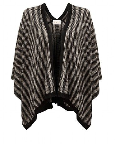 Merino Stripe Poncho Invest in an elegant and stylish way to keep warm this winter. Made from super soft pure merino wool, our striped serape is a must have key Autumn wardrobe staple.