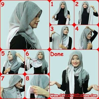 Pashmina shawl hijab tutorial