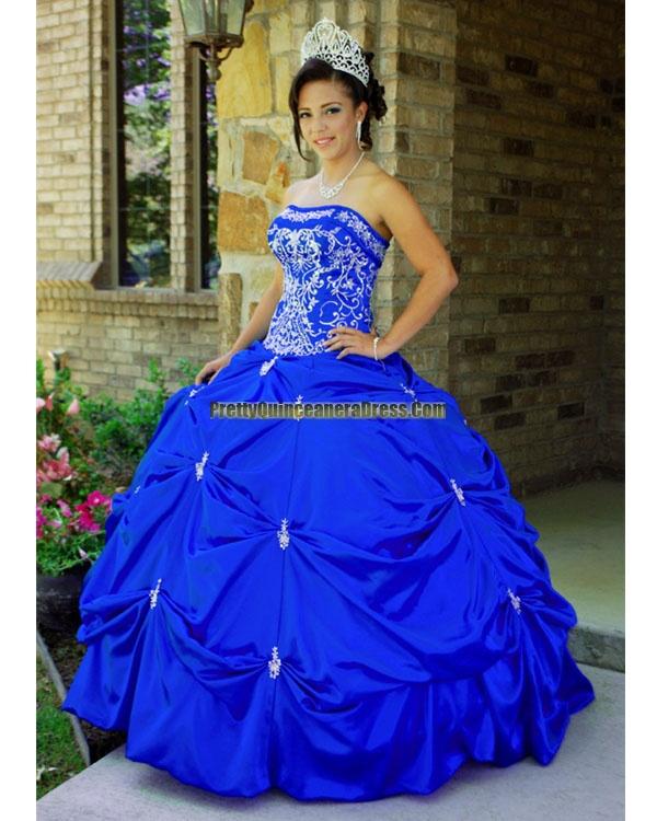 Brand new royal blue quinceanera dress as shown. prettyquinceaneradress.com
