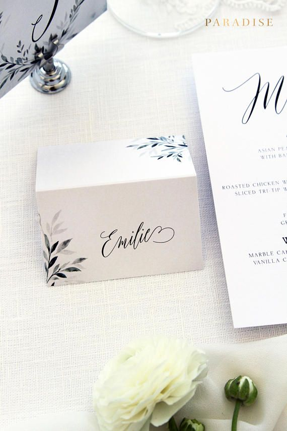 Jimena Place Cards, Printable Place Cards or Printed Place Cards Calligraphy Place card Tented Cards Name Tags Modern Calligraphy Stationery