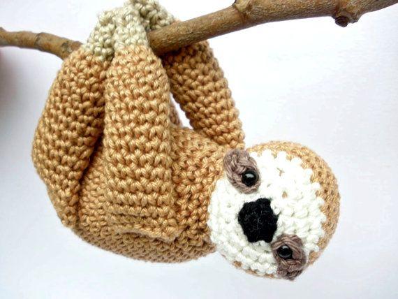 Free Amigurumi Sloth Pattern : Sloth Stuffed Animal, Sloth Plush, Crochet Sloth, Sloth ...