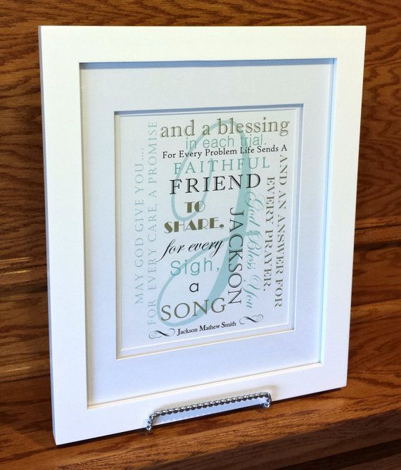 Baptism Gift  Gift from Godparents  New Baby by SayitinStyleArt, $14.99