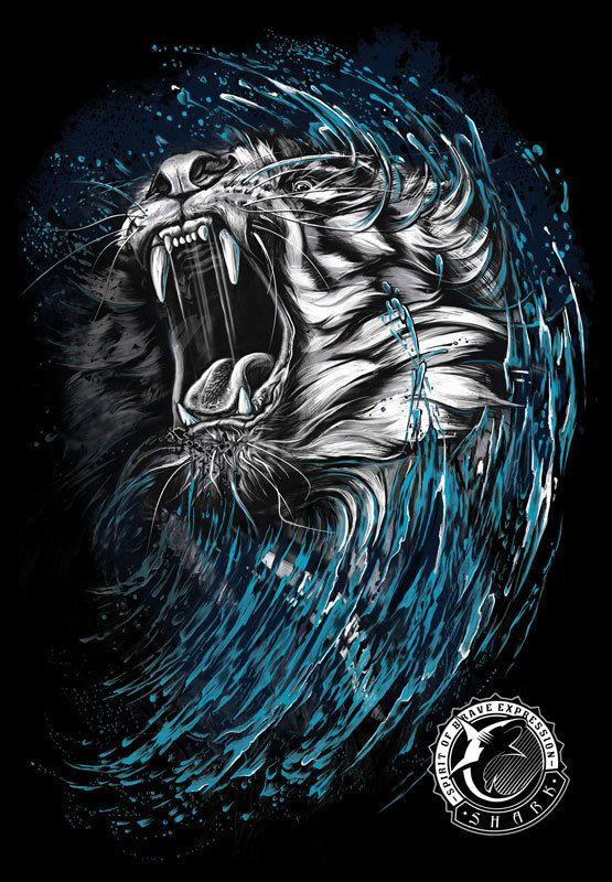 Print disign-Tiger by Kamila Sharipova, via Behance