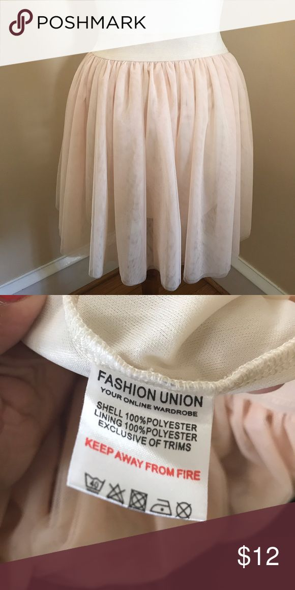 Blush pink ballerina skirt Ballerina skater skirt (blush pink) with a nude slip underneath. Fashion Union Skirts Circle & Skater