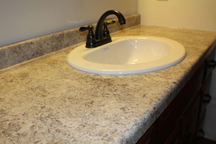 EW14- Main Bath. Formica Belmonte Granite Countertop. in ...