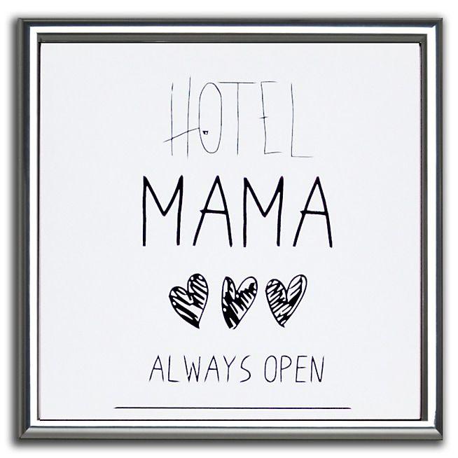 Words Affiche encadrée Mama noire et blanche 30x30cm