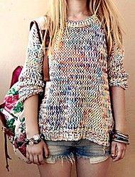 vrouwen losse regenboog patroon gebreide truien t... – EUR € 17.01