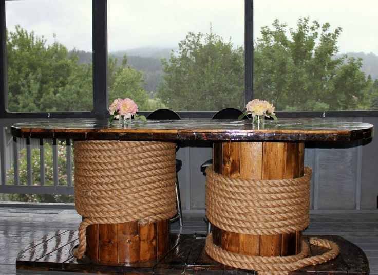 Repurpose: Two Cable Spools.