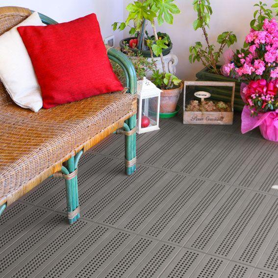 Pavimentazione colorata forata in plastica - Piastrella 40 x 40