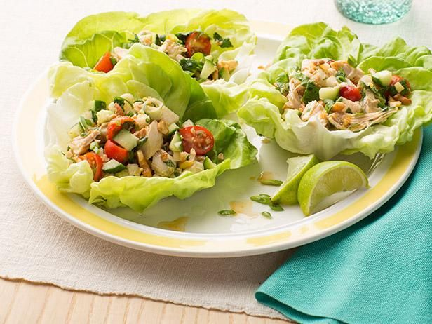 Asian Chicken Salad #UltimateComfortFood: Food Network, Lettuce Cups, Asian Chicken Salads, Foodnetwork Com, Asian Food, Food Recipes Ideas, Chicken Salad Wraps, Salads Dresses, Chicken Salad Recipes