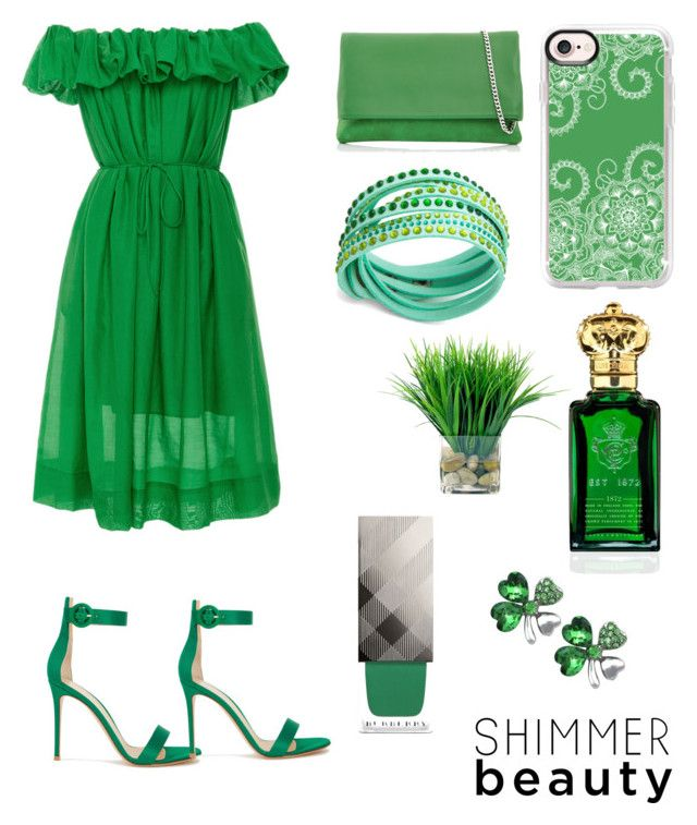 """""""Untitled #6"""" by pacaca-gemela on Polyvore featuring Paule Ka, Clive Christian, Gianvito Rossi, Karen Millen, Casetify and Burberry"""