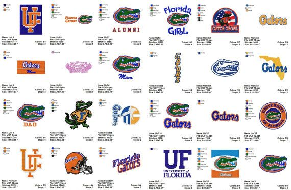 Florida University Embroidery Designs Collection Instant Digital Download