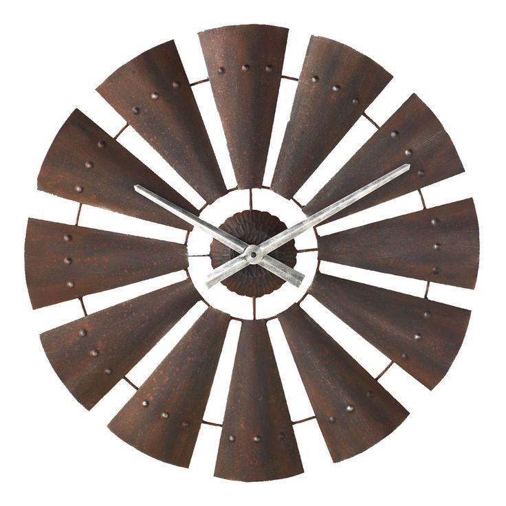 Windmill Metal Clock