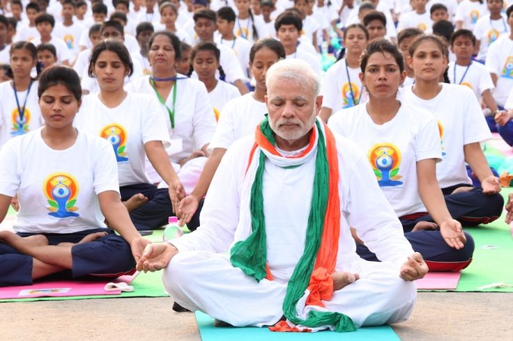 """Prime Minister Narendra Modi kicked off the International Yoga Day celebrations from Lucknow with Uttar Pradesh Chief Minister Yogi Adityanath and almost 50,000 participants.  While kicking off the global event he said that """"Today, Yoga has become a part of so many lives."""