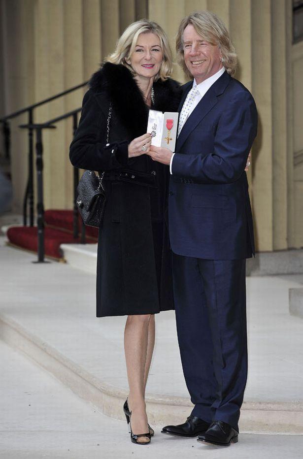 Rick Parfitt with wife Lyndsey.