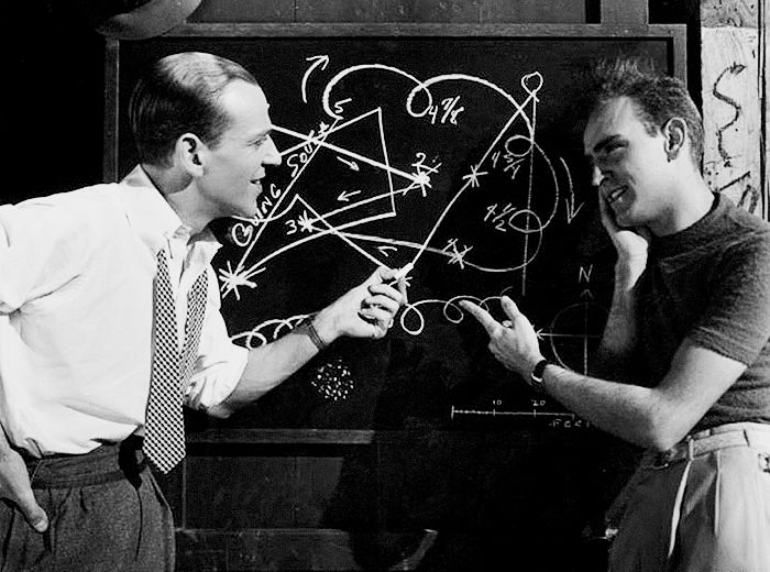 Fred Astaire and Hermes Pan, 1936.