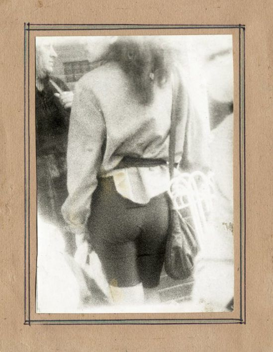 Miroslav Tichy. Woman pedestrian from behind. 1980s.