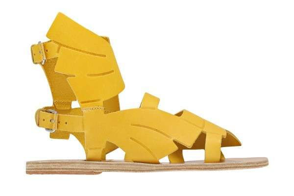 #collabs Ancient Greek Sandals' Banana inspired gladiators for Carven Resort 2014