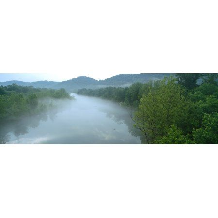 River with mountains in the background Ozark Mountains Arkansas USA Canvas Art - Panoramic Images (12 x 36)