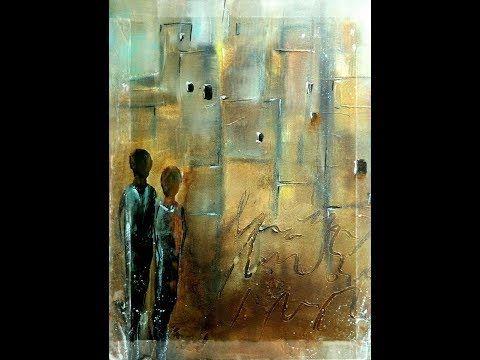 Abstract Painting Tutorial , Abstrakte Acrylmalerei Collage - YouTube