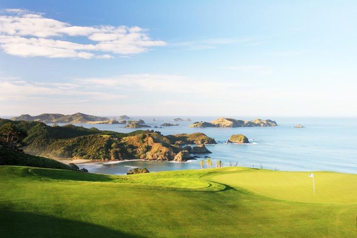 The 16th hole at Kauri Cliffs, New Zealand #golf #NewZealand #CavalliIslands