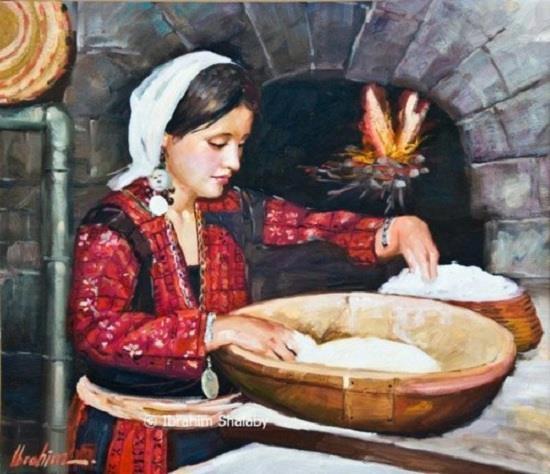 """"""" وخبز أمي """"   لوحة للفنان ابراهيم شلبي...!!"""