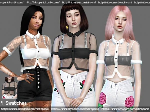 10c7d57c9f8c4 Dior Sheer Shirt - The Sims 4 Download - SimsDomination
