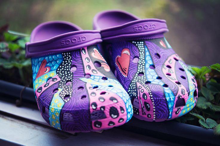 #crocs #posca #uniposca #painted #handpainted #freehand #poscapens #handmade #shoes