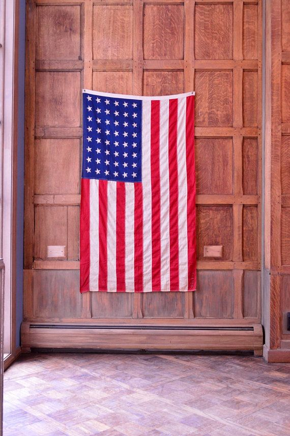 Unique Odd Fellows 48 Star Flag, Vintage American Flag, Independent Order Of Odd…
