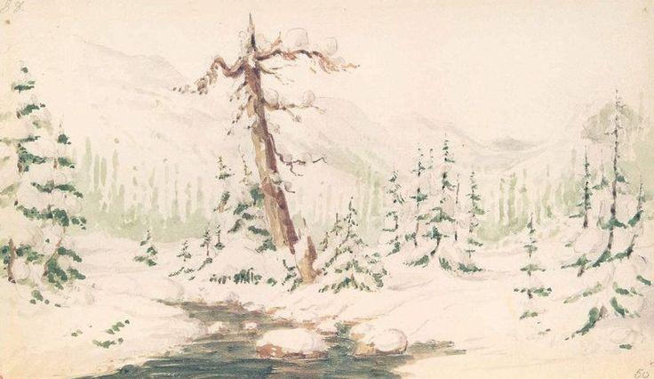 Paul Kane, A Winter Scene in the Rockies, 1846