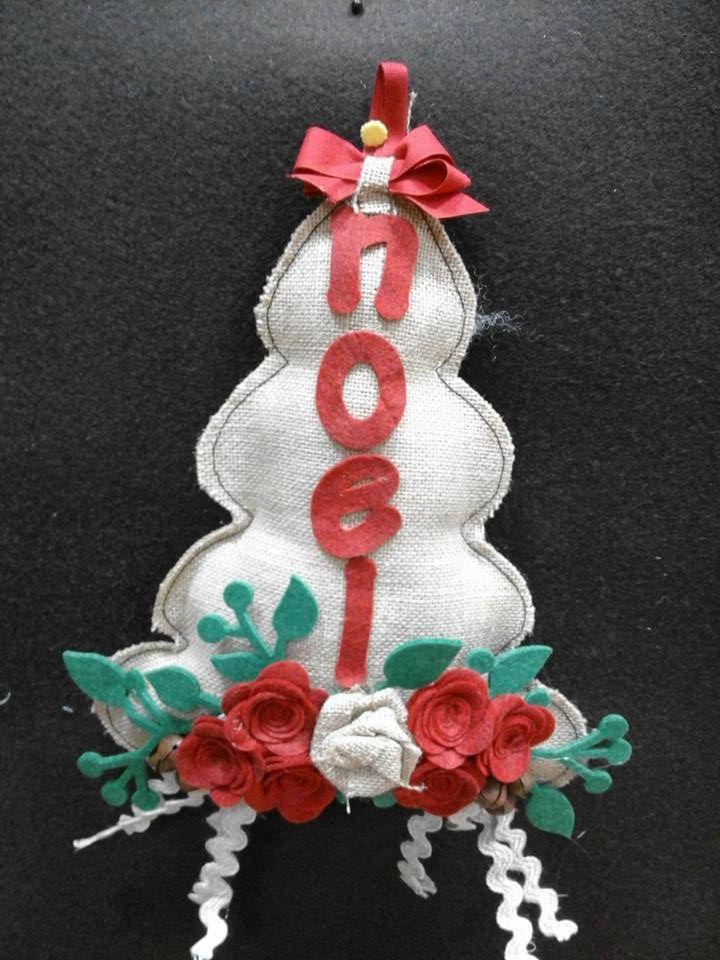 kit alberello di Natale con scritta