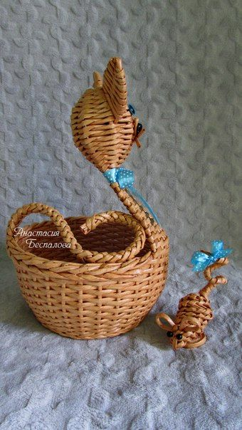 So cute! Cat and mouse basket set. Love it