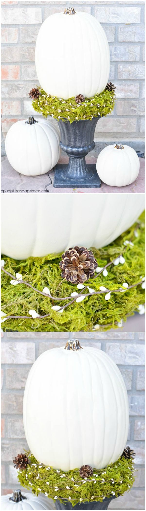 DIY Pumpkin Topiary tutorial #MichaelsMakers @crystalowens