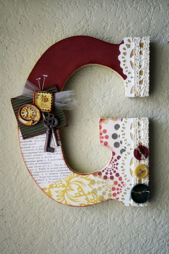Personalized Antique Vintage Boutique Wall Letter by LolaMonkey, $35.00
