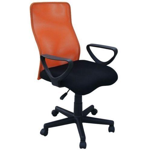 Sedia-da-ufficio-Sedia-girevole-Braccioli-Sedia-da-scrivania-arancione