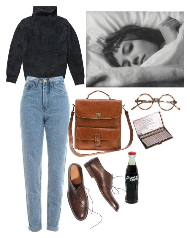 Schwarzer Rollkragen Pulli, mom jeans subdued, Oxfords