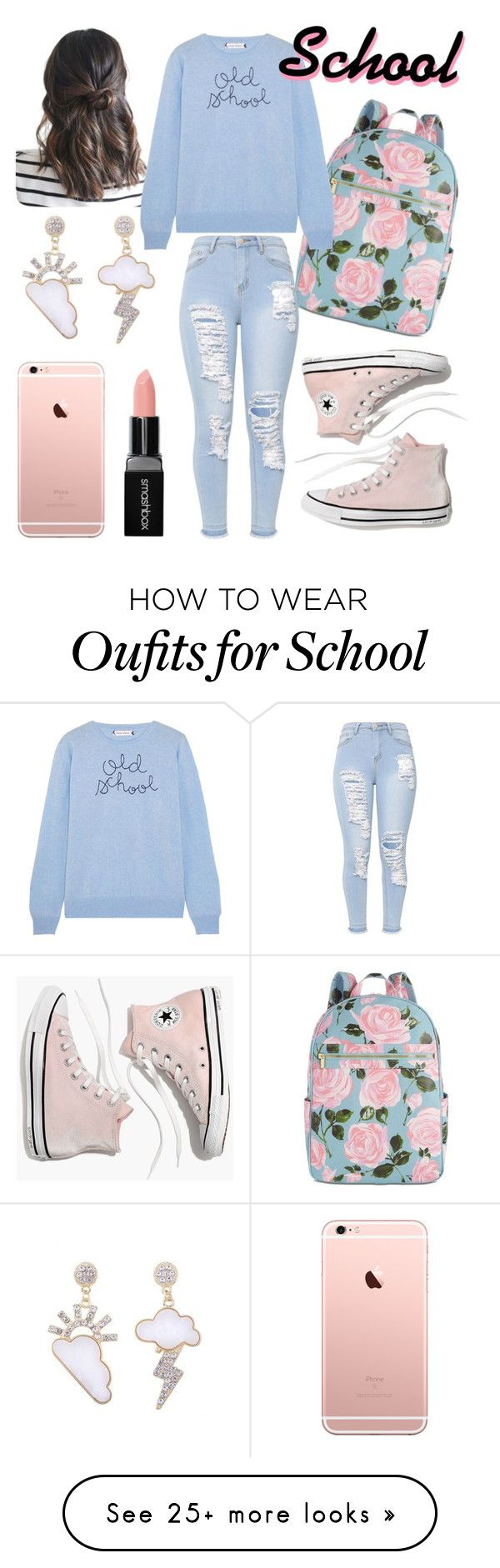 """Ideas for school, #1 "" by monika-monica on Polyvore featuring ban.do, Lingua Franca, Madewell and Smashbox"