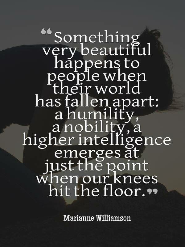 Something beautiful happens when your world falls apart