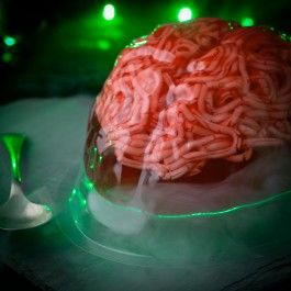 Why not make some Halloween themed jelly for your party for your guests to gobble away at! Choose either a gory brain or a spooky skeleton to set your jelly in.
