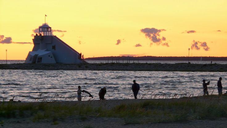 Nallikari beach, Oulu Finland.
