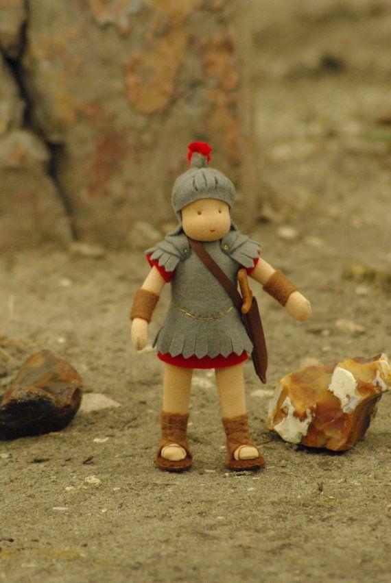 Roman soldier Waldorf doll // Waldorf doll for boys // Play doll for boys