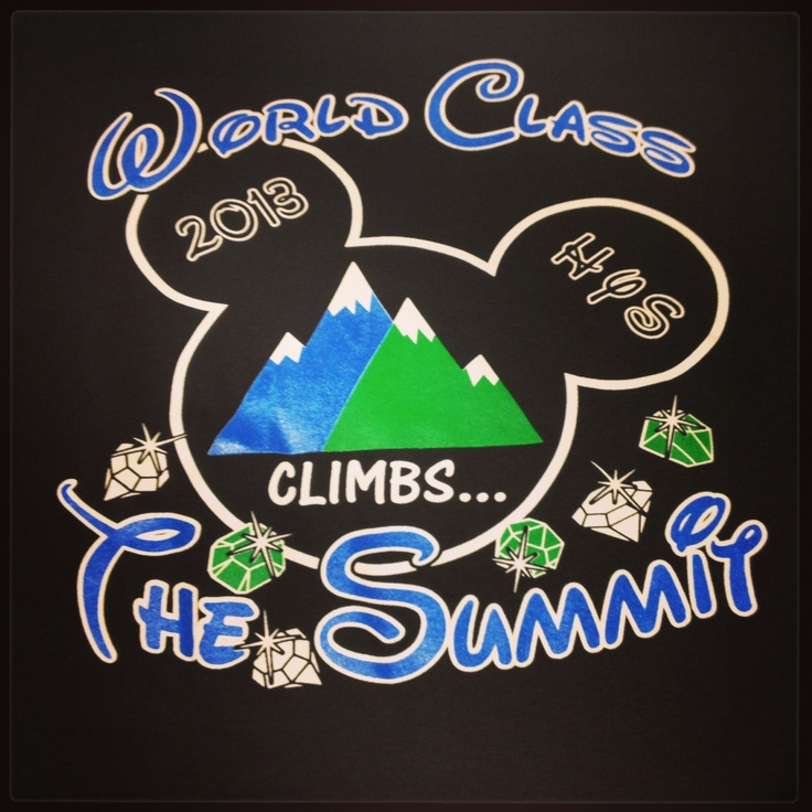 World Class Athletics Summit T Shirts For 2013 Cheer Me