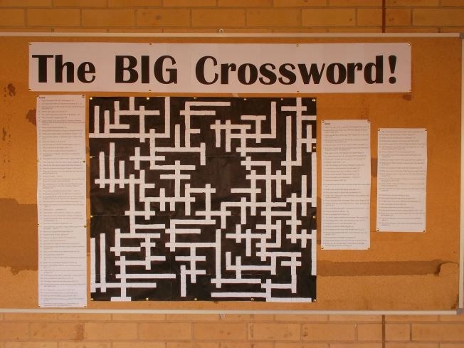 The Big Crossword | Capturing the fun in my library