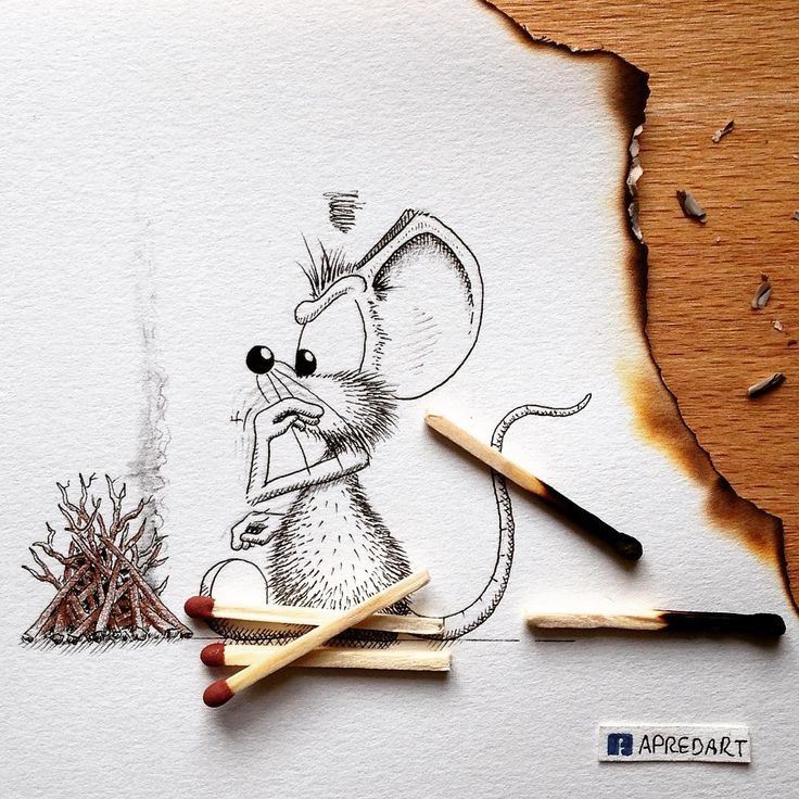 I tried to explain Rikiki that lighting up a fire on paper wasn't a great idea  But mice are really stubborn...  --------------------------- #apredart #Rikiki #mouse #art #fire #match #paper #paperart #fireplace #art #drawing #fun #funny #cute #originalart #art_worldly #nawden #arts_help #art_spotlight #art_empire #arts_gallery #art_realistique #sketch_daily #justartspiration #instagram #hellomynameis