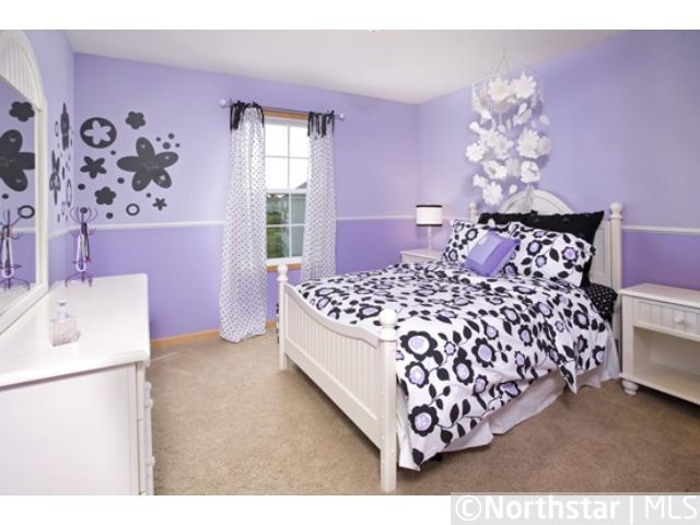 purple bedroom with black furniture this could be a idea for a less baby ish room for 19553