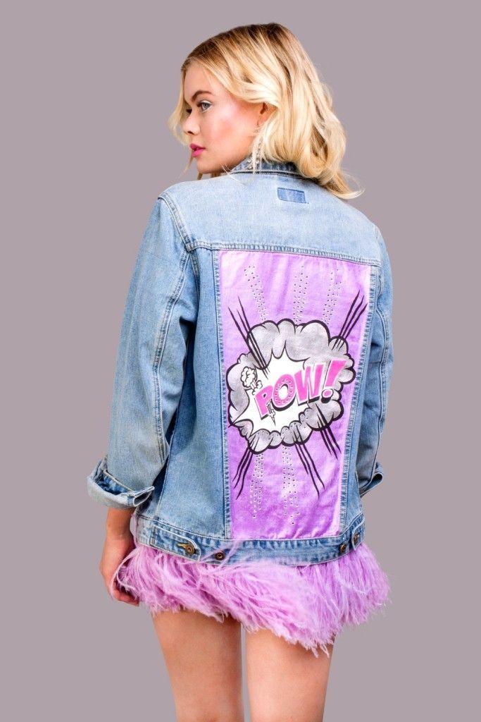джинсовая куртка с розовыми перьями (5)
